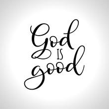 God Is Good - Hand Written Vec...