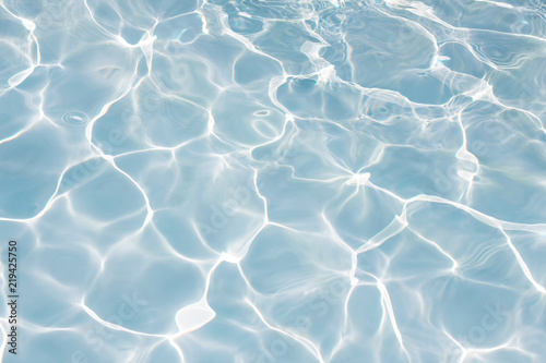 Texture of water in swimming pool for background Canvas Print