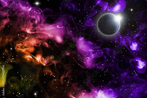 Naklejki kosmos  fioletowy-kosmos