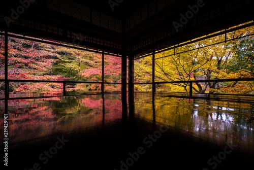 Poster Kyoto 京都府 瑠璃光院 紅葉