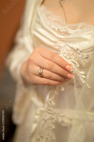 Wedding Bride Dress Hands Hand White Love Marriage Woman