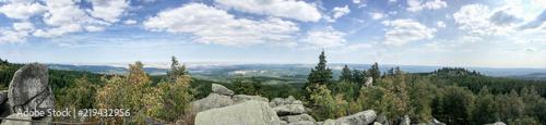 Fotografie, Obraz  Blick über den Harz