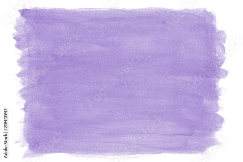 Fotografie, Obraz hand-painted purple lilac watercolor texture background