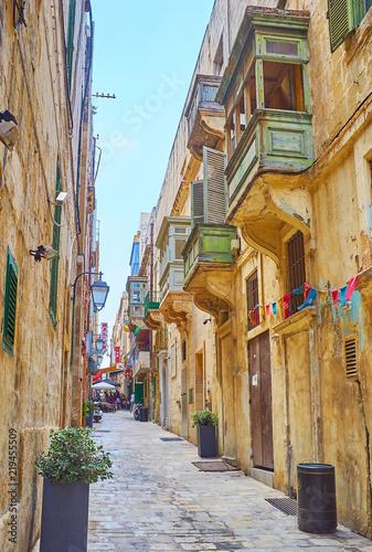 Legendary Strait street of Valletta, Malta