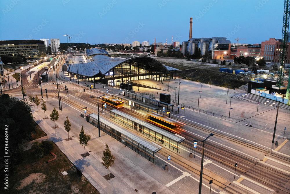 Fototapeta Dworzec Łódź Fabryczna