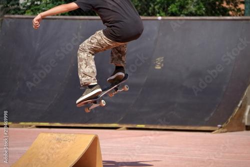 skateboard salto con rampa, evoluzione acrobazia