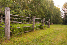 Old Wooden Rural Corral Fence ...