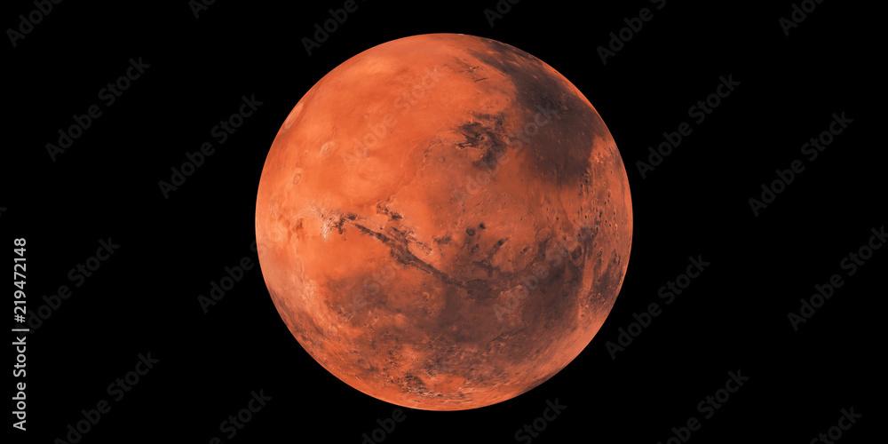 Fototapety, obrazy: Mars red planet