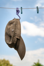 Military Cap Is Dried On The C...