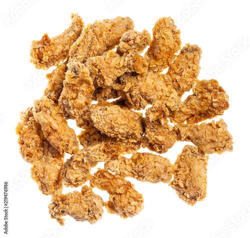 Fototapeta top view of pile of batter fried chicken wings obraz