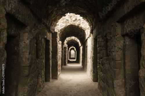Foto op Aluminium Rudnes Ruins of Delhi, Tughlaqabad fort ruins