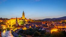 Panorama View Of Cesky Krumlov...