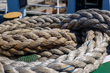 Twisted Ship's Rope Lying On T...