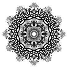 Black And White Snow Flake Motif