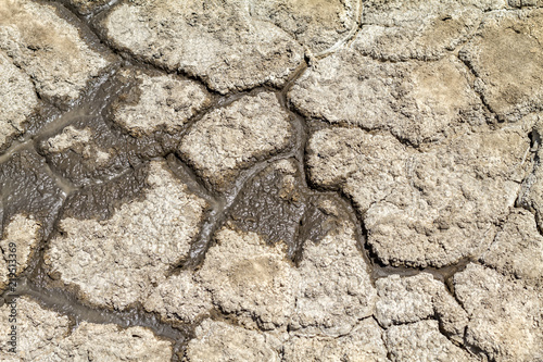 texture of cracked earth, cataclysm of drought
