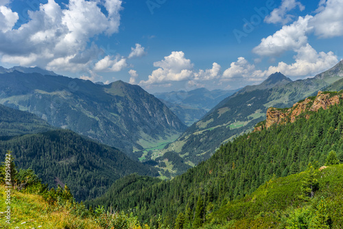 Printed kitchen splashbacks Khaki Beautiful view with glacier and mountains and nature at Nationalpark Hohe Tauern in Pinzgau in the Austrian Alps