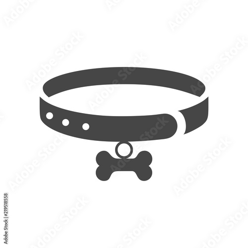 Necklace dog with bone vector illustration design Fototapete