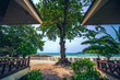 landscape scenery of beach front bangalow at SAMED CABANA a beach resort located at SEMED island Rayong district Thailand