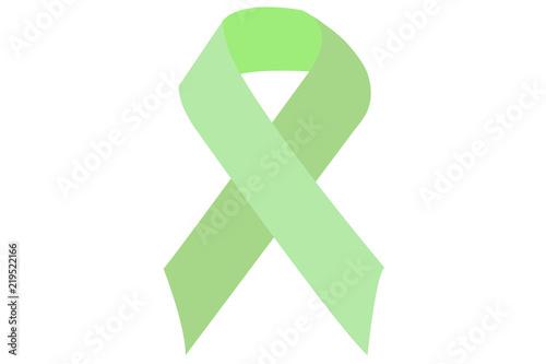 Photo Lazo de color verde sobre fondo blanco.