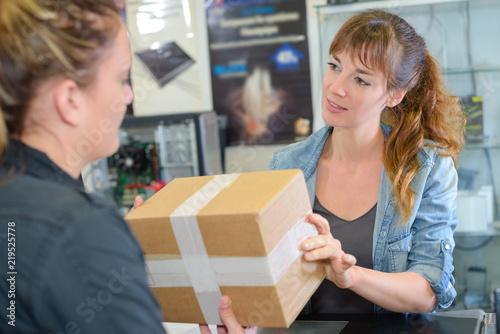 Obraz na plátně receiving a parcel