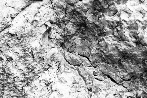 In de dag Stenen Rock texture and surface background. Cracked and weathered natural stone background.