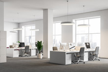 White Office Corner, Columns, ...