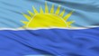 Riohacha City Flag, Country Colombia, Closeup View