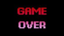 A Game Over Screen. Blocks-cub...