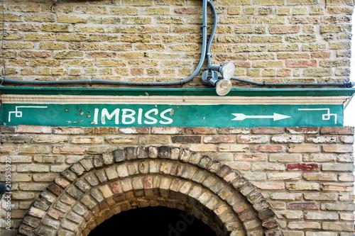 Fotografie, Obraz  Schild 299 - Imbiss