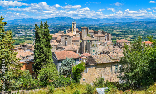 Photo Scenic sight in Falvaterra, beautiful village in the Province of Frosinone, Lazio, central Italy