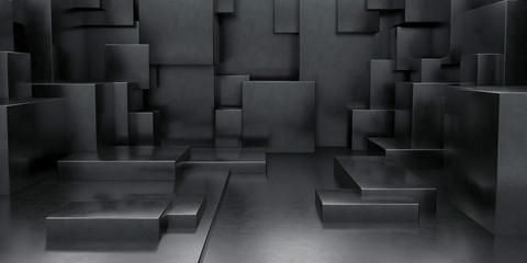 3D Geometric Abstract Cuboi...