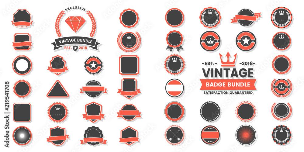 Fototapety, obrazy: Vintage Retro Vector Logo for banner