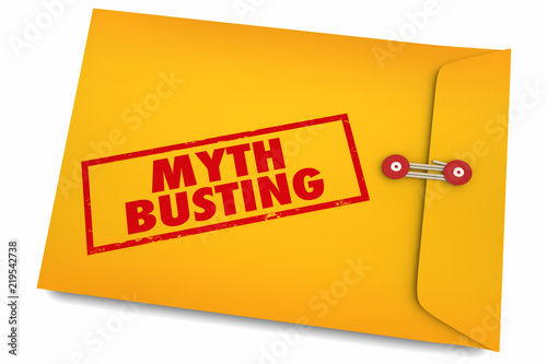 Fotomural Myth Busting Facts Find Truth Reality Envelope 3d Illustration