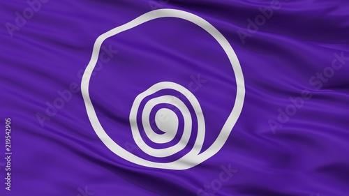 фотография  Naruto City Flag, Country Japan, Tokushima Prefecture, Closeup View