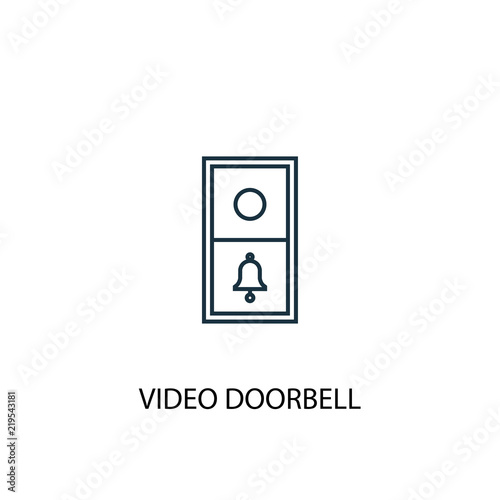 video doorbell concept line icon. Simple element illustration Tapéta, Fotótapéta