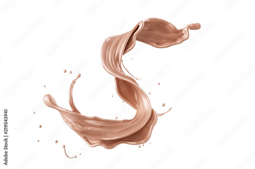 Fototapety, obrazy: Foundation liquid splash, Cosmetic make up.