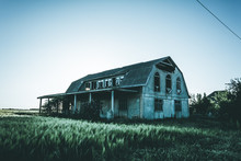 Abandoned Building At Sunset, Mystical Effect