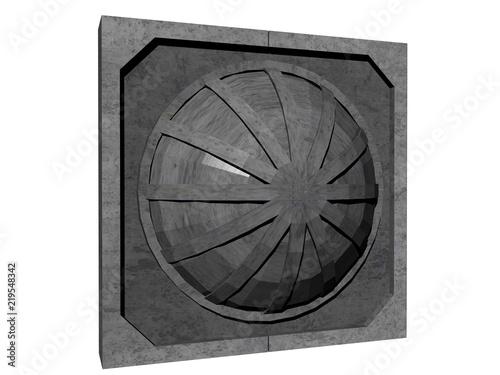 Fotografie, Obraz  Futuristisches Fenster an Gebäude