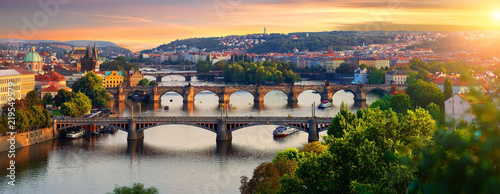 Photo sur Toile Prague Overview of old Prague