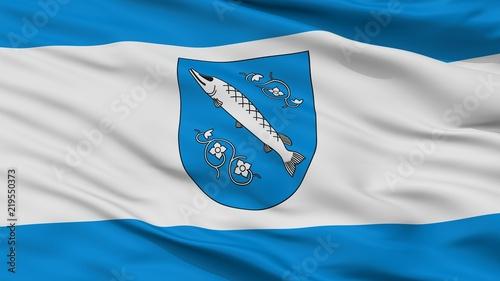 Obraz na plátne Rybnik City Flag, Country Poland, Closeup View