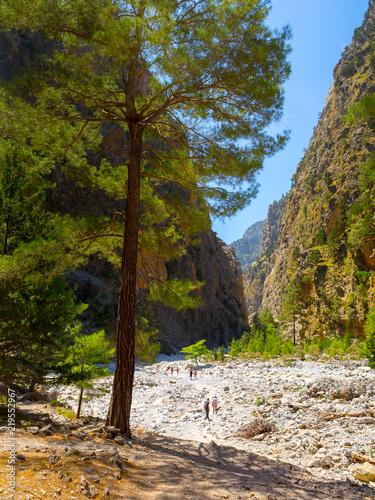 Foto op Aluminium Oceanië Passage of famous Samaria Gorge, Crete, Greece