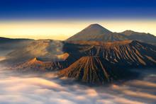 Mount Bromo Twilight Sky Sunri...