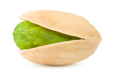 Pistachio Isolated On White Ba...