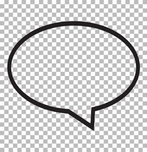 Speech Bubble Icon Isolated On...