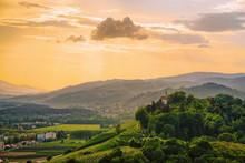 Sunset At Green Hills In Maribor Slovenia