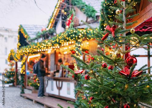 Foto op Plexiglas Kerstmis Christmas Market at Opernpalais at Mitte in Winter Berlin