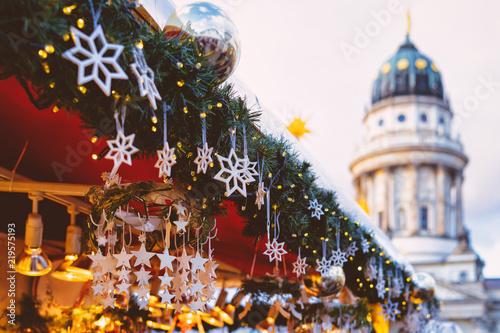 Foto op Plexiglas Kerstmis Christmas Market in Gendarmenmarkt in Winter Germany Berlin