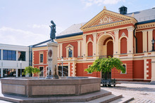 Drama Theatre At Old Town Of Klaipeda In Lithuania