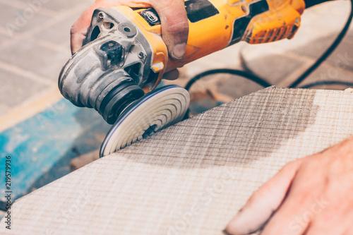 Fotografia, Obraz polishing disk with diamond spraying for angle grinder