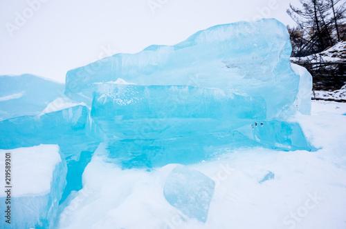 Fotobehang Midden Oosten Ice hummocks of Lake Baikal